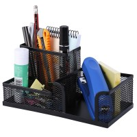 Desktop Organiser Stationary Home Office Pen Pencil Holder ...