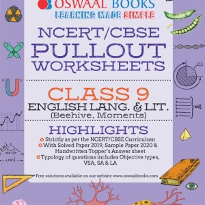 Oswaal NCERT & CBSE Pullout Worksheets Class 9 English Language and Literature Book (For March 2021 Exam)