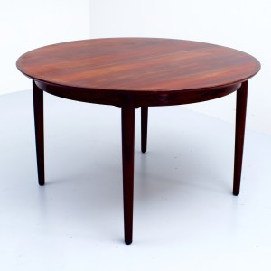 Rosewood Diningtable with two additional leaves by Arne Vodder for Sibast, Denmark, 1960's