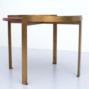 Round Coffeetable in Rosewood and Brass
