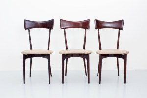 A set of three Diningchairs by Ico and Luisa Parisi for Ariberto Colomo, Italy, 1950