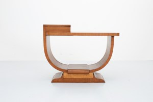 Art Deco Sidetable in Walnut and Rosewood
