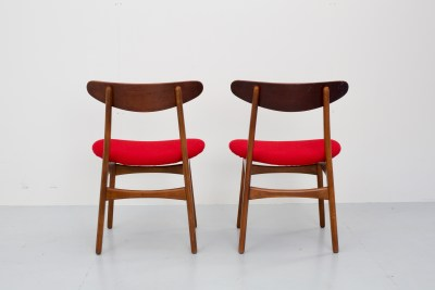 Set of 6 Hans Wegner CH-30 Diningchairs in Oak and Teak, Denmark, 1960's