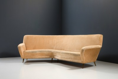 1 Sofa curved and 2 Lounge Chairs by I.S.A._Fabric and Brass_Italy_1960s5H0A4641HR1_zeger van Olden_mid century_mid century modern_amsterdam_italian_scandinavian