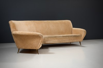 1 Sofa curved and 2 Lounge Chairs by I.S.A._Fabric and Brass_Italy_1960s5H0A4646_zeger van Olden_mid century_mid century modern_amsterdam_italian_scandinavian