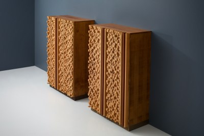 Cabinets by sculptor D'Amico_wood_signed and dated_19745H0A4787HR_zeger van Olden_mid century_mid century modern_amsterdam_italian_scandinavian
