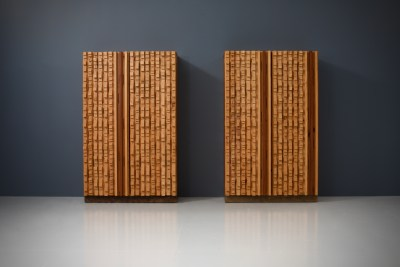 Cabinets by sculptor D'Amico_wood_signed and dated_19745H0A4816 (1)_zeger van Olden_mid century_mid century modern_amsterdam_italian_scandinavian