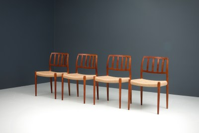 Dining Chairs by Niels Otto Moller_Teak and newly upholstered_Danish Corc_Denmark_1960s5H0A4264_zeger van Olden_mid century_mid century modern_amsterdam_italian_scandinavian
