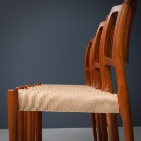 Dining Chairs by Niels Otto Moller_Teak and newly upholstered_Danish Corc_Denmark_1960s5H0A4277 (1)_zeger van Olden_mid century_mid century modern_amsterdam_italian_scandinavian