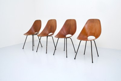 Dining Chairs 'Medea' by Vitorio Nobili for Fratelli Tagliabue_teak and metal_Italy_19555H0A9148_zeger van Olden_mid century_mid century modern_amsterdam_italian_scandinavian