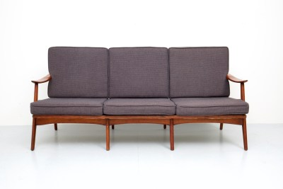Sofa_Three seater_patinated Oak and Fabric_Italy_1960s5H0A2830_zeger van Olden_mid century_mid century modern_amsterdam_italian_scandinavian