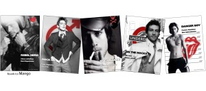 Boards pour fragrances masculines. Client : Mango
