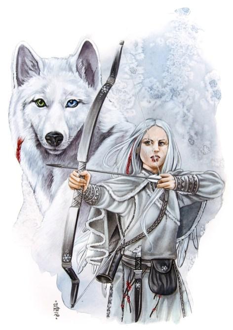 """""""Wolf"""", Aquarell-Schnellzeichnung, 2016"""
