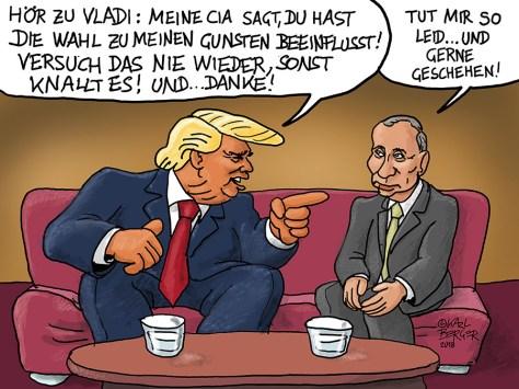 Trump geigt Putin die Meinung