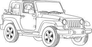 Jeep Wrangler zeichnen lernen schritt für schritt tutorial