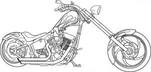 Motorrad zeichnen lernen schritt für schritt tutorial