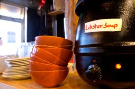 Lobstersuppe Café Bryggjan