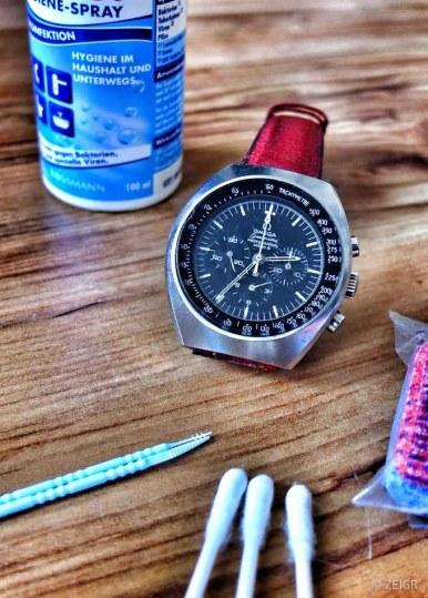 Uhr reinigen - Omega Speedmaster Mark II