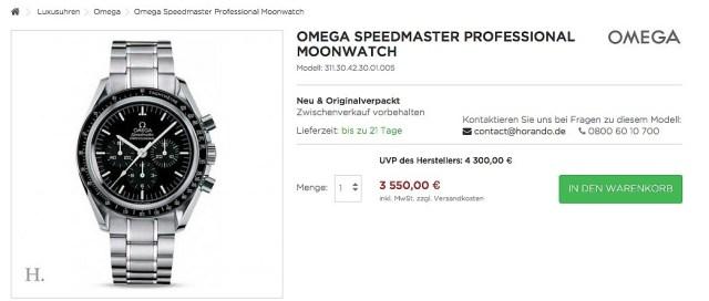Horando Speedmaster Professional Moonwatch