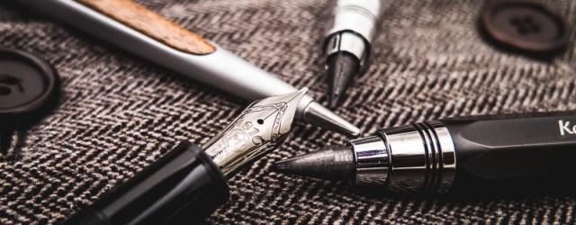Geschenke für Männer - Schreibgeräte - Montblanc Meisterstück Ultra Black, Kaweco Sketchup Fallbleistift, Napkin Pininfarina Cambiano