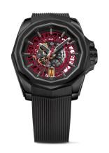 Corum Admiral - AC-ONE 45mm - Skeleton Titan PVD Schwarz, Kautschukband Skelettiertes Automatikwerk rote Datumscheibe Limitiert, 9.950 €