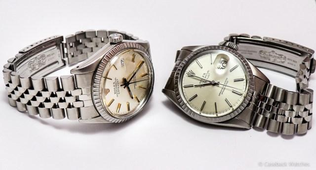 Vintage Rolex Datejust Jubilee - Stretch Repair - vorher/nachher