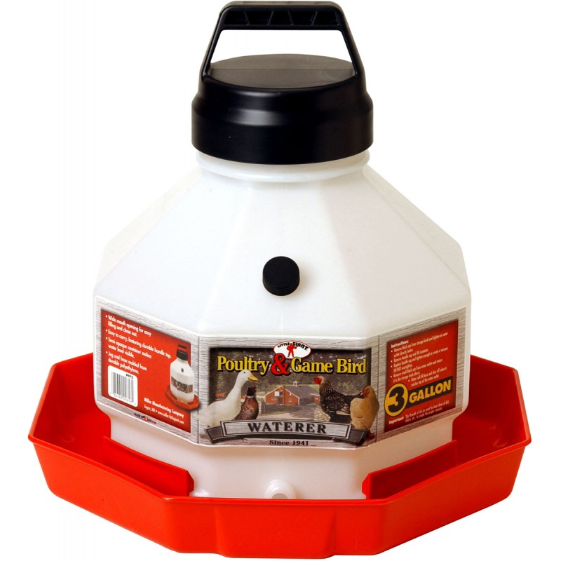 Poultry & Game Bird Water 3 Gallon