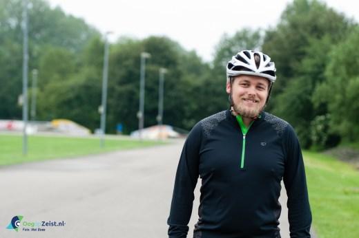 Reinier Meerwaldt uit Bunnik in training voor een winter triatlon