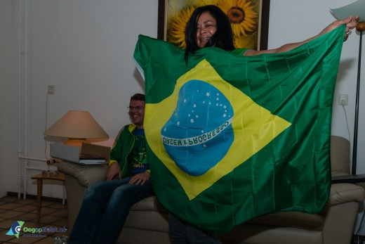 Lumardi juicht bij de winst van Brazilië