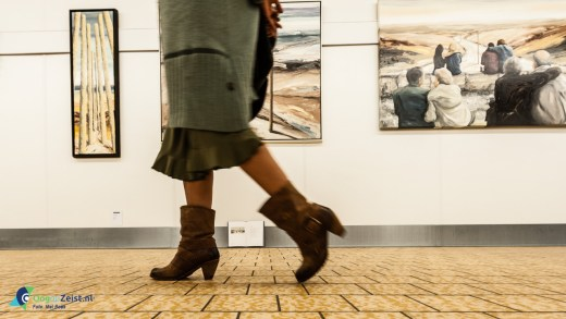 Verschillende Zeister kunstenaars in de eerste expositie