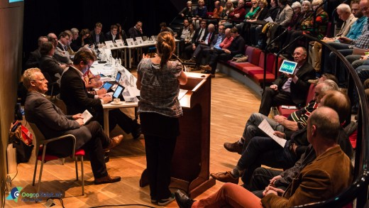 Sprekers tijdens de hoorzitting Centrumvisie gemeente Zeist