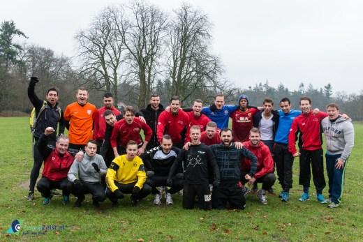 Bootcamp voor de heren selectie van voetbalcub Saestum op het Bisonveld