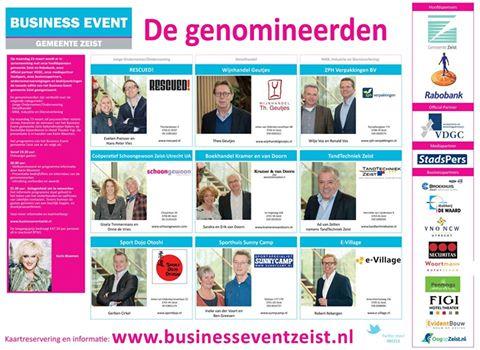 Genomineerden Zeister Ondernemer 2015
