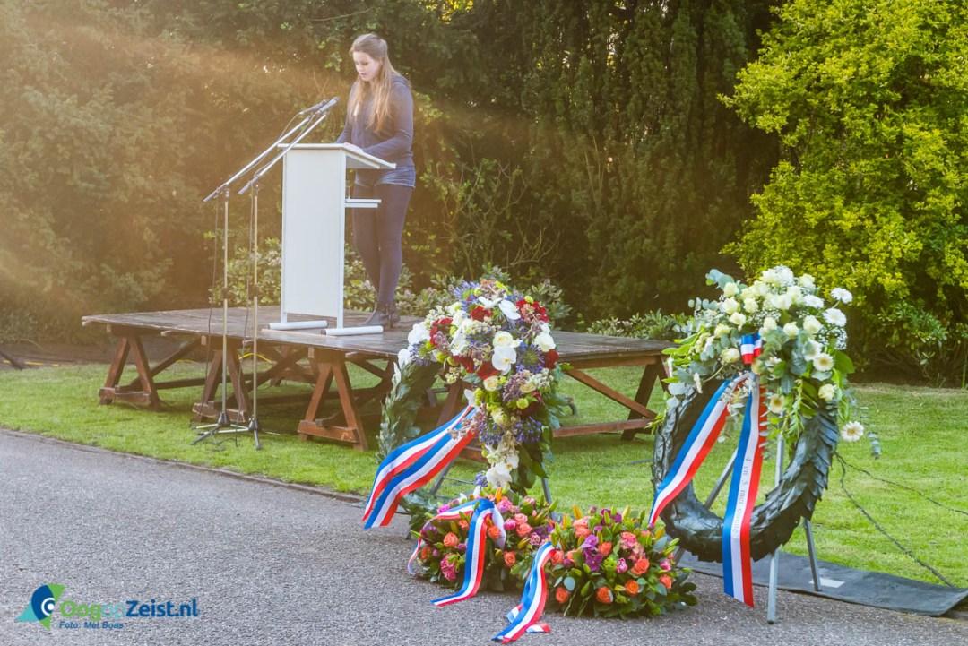 Voordracht over vrijheid van Sara Klaassen een leerlinge van de Stichtse Vrije School.