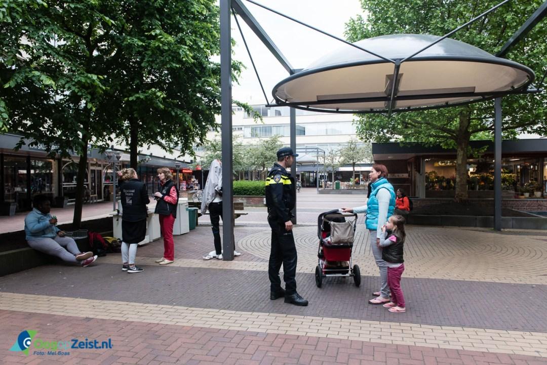 Veiligheidsteam op bezoek in WInkelcentrum Vollenhoven