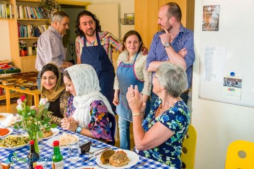 Maaltijd met vluchtelingen in het Lindenhuis