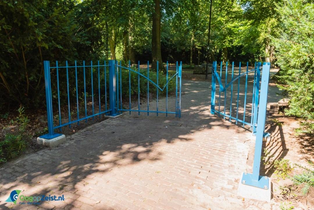 Proefopstelling van toegangshek tot het Walkartpark geplaatst.