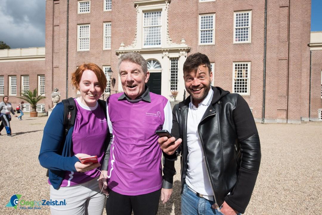 Annemarie met Paul Richard en haar vader, de inspirator voor deze Pokemon Go Sponsorloop voor de Hersenstichting