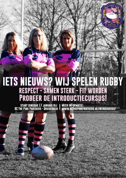 Flyer Introductiecursus Dames Rugby