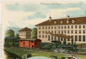 Dampfzug bei Flawil, vor 1907, Auszug aus einer Ansichtskarte