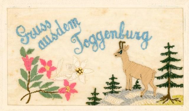 gestickte Postkarte