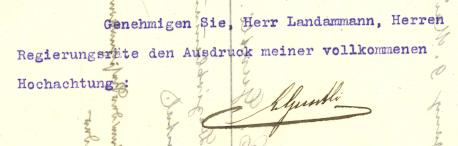 Rücktrittsschreiben Guntli 1914