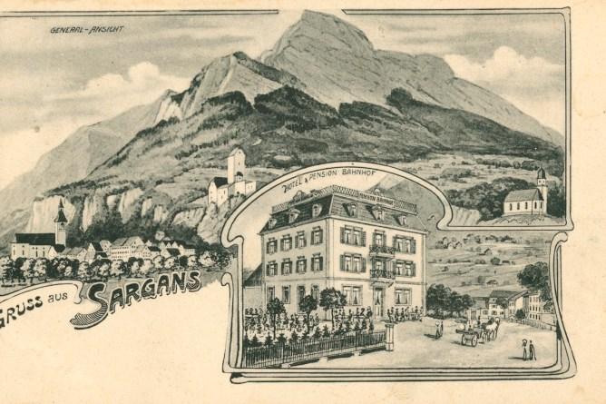 Ansichtskarte von Sargans