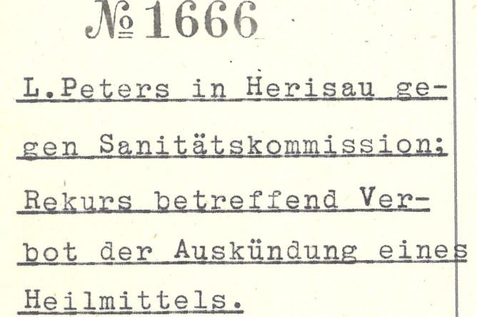 Titel des Regierungsratsbeschlusses Nr. 1666