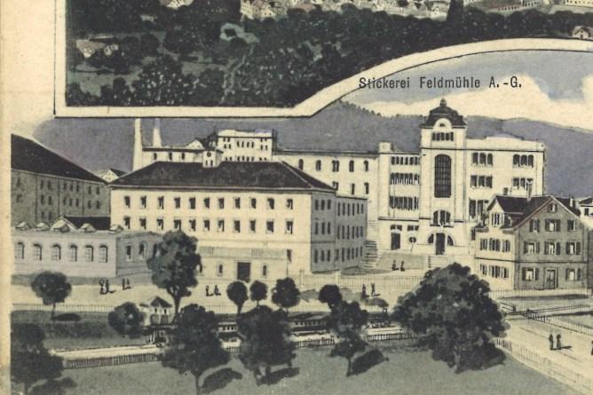 Feldmühle Rorschach, um 1908