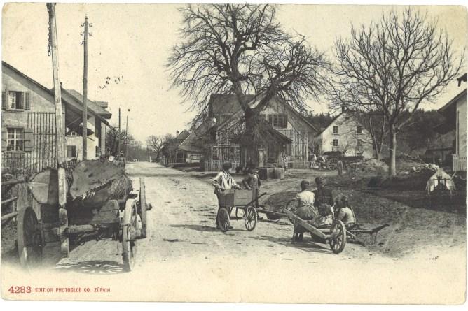 Mörschwil, Dorfpartie um 1912