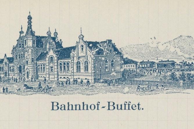 Bahnhof Rapperswil 1911 (Briefkopf)
