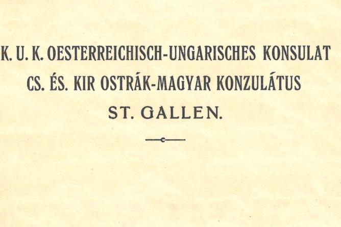Briefkopf Oesterreichisches Konsulat