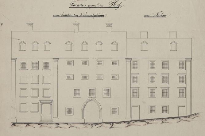 Kriminalgebaeude, Plan 1850