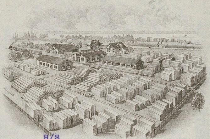 Firmengelaende Stuerm in Rorschach 1927